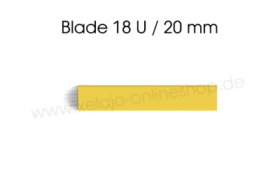 Microblading Blades 18U gelb 0,20 mm