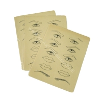 Übungsmatrize Augen, Augenbrauen, Lippen