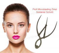 Microblading Zirkel Goldener Schnitt - Vermessung der Augenbrauen