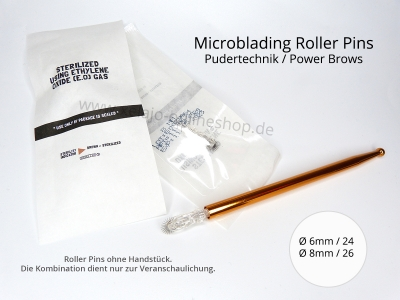 Microblading Blades Roller Pin 8 mm - Pudertechnik - Powerbrows