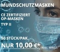 Mundschutz Mundmaske Typ II Zertifiziert