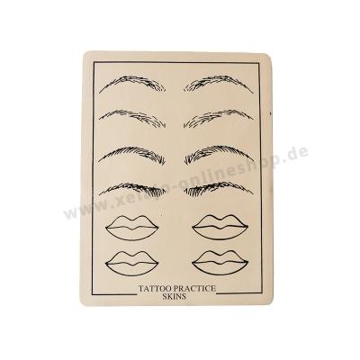 Microblading Übungshaut Augenbrauen und Lippen | Übungsleder