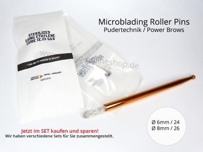 Microblading Blades Roller Pin Set - Pudertechnik - Powerbrows