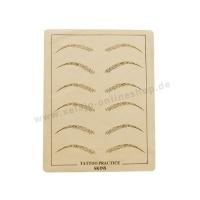 Microblading Übungshaut Augenbrauen | Übungsleder